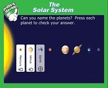 SMART Board activity for your students to learn about the Solar System.
