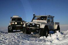 Iceland Land Rover 4 door truck