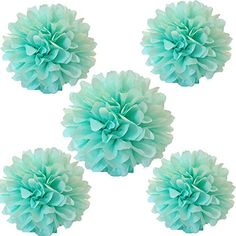 CheckMineOut 12Pcs Mixed Size Mint Green Tissue Paper Pom Poms Flowers Wedding Favors Birthday Party Baby Shower Party Outdoor Decoration CheckMineOut http://www.amazon.com/dp/B00XMX2Y92/ref=cm_sw_r_pi_dp_AMycxb10MPRHK