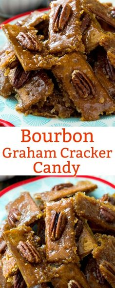 Bourbon Graham Cracker Candy -- so sweet & crunchy, -perfect for Kentucky Derby Party.  [] via @FMSCLiving