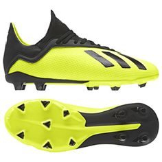 adidas Youth X 18.3 FG Soccer Shoes (Solar Yellow Black)   SoccerEvolution a04cd5d380365