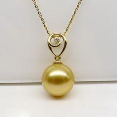 golden south sea pearl pendant