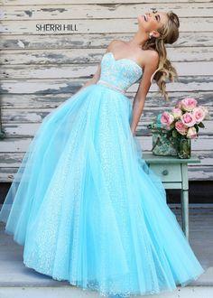 Sherri Hill 11186 Strapless Sequin Gown