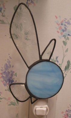 Navi Night Light in Stained Glass - Legend of Zelda by CustomStainedGlassNC on Etsy
