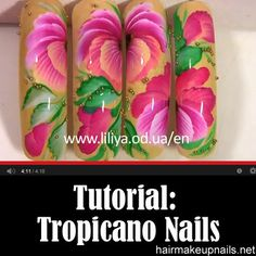 Tutorial – Tropicano Nails ►► http://www.hairmakeupnails.net/tutorial-tropicano-nails/?i=p