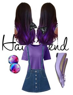 """""""purple derple (by my daughter)"""" by jessica-burt-kerr on Polyvore featuring Lands' End, WithChic, Repetto and Maison Close"""