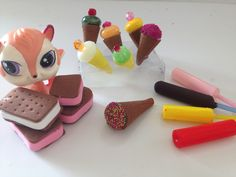 How to make Doll/LPS ice cream sandwich, ice cream cone and popsicle. it's a quick craft, with foam paper, straws, hot glue and beads