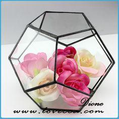 Christmas decoration !!! Wedding Glass Terrarium ,Hanging glass terrarium geometric , Geometric hanging glass decoration