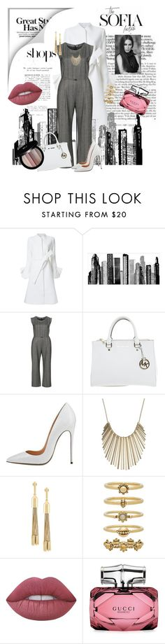 """""""Untitled #200"""" by riuk ❤ liked on Polyvore featuring TBA, Goen.J, RoomMates Decor, Evelin Brandt, Michael Kors, Jennifer Lopez, Eddie Borgo, Luv Aj, Lime Crime and Gucci"""