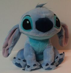 "Stitch Disney Tote A Tail Sparkle Spot on Back 8"" Tall Plush Stuffed Animal #DisneyToteATail"