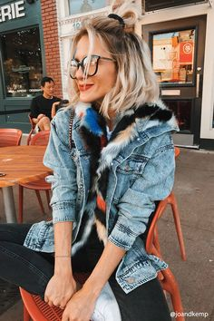 Product Name:Multicolored Faux Fur Denim Jacket, Category:outerwear_jean-jackets, Price:64.9