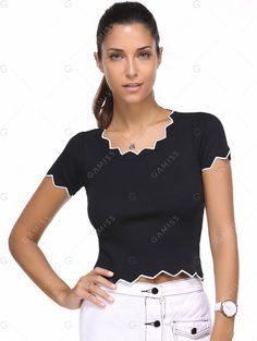 Tees & T-Shirts   Chic White Picot Edge Women's T-Shirt #summer #fashion #tshirt
