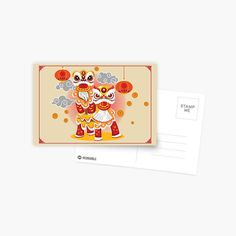 Chinese Holidays, All Holidays, Chinese New Year, Mid Autumn Festival, Dancers, Lion, Stamp, Activities, Art Prints