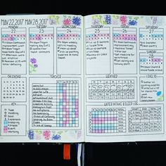 art Ugh what a terrible week. Getting sick didnt help my workout schedule. Lets do better next week. Bullet Journal 2019, Bullet Journal Notebook, Bullet Journal Spread, Bullet Journal Layout, Bullet Journal Ideas Pages, Bullet Journal Inspiration, Journal Pages, Bullet Journals, Notebook Collage