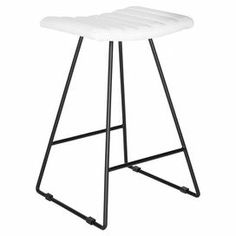 """Perfect for Friday night cocktails and Sunday morning brunch, this eye-catching counter stool showcases an iron base and white seat.   Product: Set of 2 counter stoolsConstruction Material: IronColor: WhiteFeatures: Openwork baseDimensions: 26"""" H x 16.5"""" W x 16"""" D"""