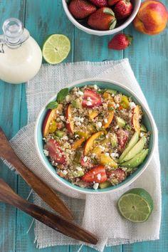 Quinoa Fruit Salad w/ Coconut Lime Vinaigrette.