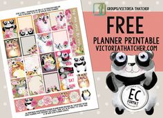 Free Printable Stop and Smell...Planner Stickers from Victoria Thatcher