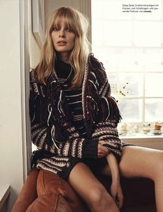 Julia Stegner by Benny Horne for Vogue Germany May 2014
