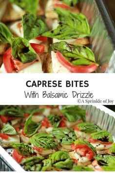 Caprese bites are a fresh and easy appetizer you can bring to any party you go to. Made with fresh mozzarella, fresh basil, triscuits and balsamic reduction