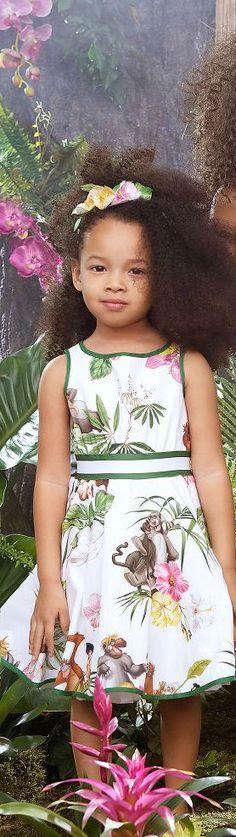 c690b47d5d1b MONNALISA BIMBA Girls The Jungle Book Disney Dress for Spring Summer 2018.  Super cute Monnalisa