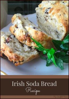 Irish Soda Bread recipe is moist, dense & delicious! And so easy to make just mix & bake