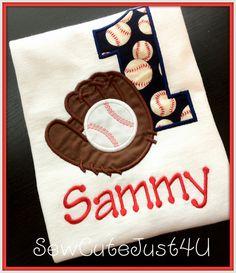 Baseball Themed Birthday Number Shirt