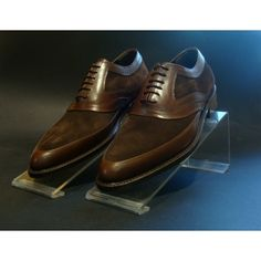 Two leather mix shoes Italian Shoes For Men, Men Dress, Dress Shoes, Derby, Oxford Shoes, Lace Up, Footwear, Leather, Fashion
