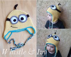Despicable Me Minion Toddler Beanie Hat Free Crochet Pattern