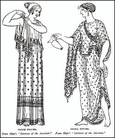 The women in Ancient Greece were responsible for making the clothes for her family. First, they would clean wool or plant fibers, then dye them so that they would be color that they wanted. They sp…