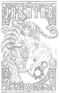 Next piece for my Steampunk Disney series. Pencils: Me Steampunk Jasmine Coloring Pages For Grown Ups, Detailed Coloring Pages, Fairy Coloring Pages, Printable Adult Coloring Pages, Coloring Books, Kids Coloring, Disney Princess Coloring Pages, Disney Princess Colors, Disney Colors