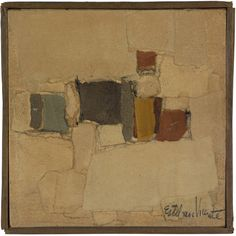 """Esteban Vicente, Untitled, 1951, in """"Drawn / Taped / Burned: Abstraction on Paper"""" at the Katonah Museum of Art"""