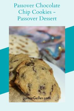 These cookies are so great for Passover because they are non-dairy and can be served at any time of the day. They also do not contain nuts like most Passover desserts. Every Seder (traditional Passover meal) should end with these cookies. If you are only baking one dessert this year, make it these cookies. Skip the cake mixes; you won't be disappointed! #passover #healthy #cookies Passover Meal, Passover Desserts, Passover Recipes, Jewish Recipes, Cookie Recipes, Dessert Recipes, Non Dairy Desserts, Perfect Chocolate Chip Cookies, Cookies