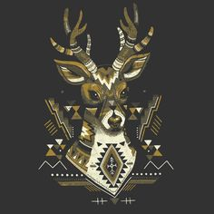 Check out the design Sender: Threadless Tri-Blend Dolman Cardigan by Julia Sonmi Heglund available on on Threadless Shape Design, Logo Design, Graphic Design, Deer Illustration, Scandinavian Pattern, Native American Patterns, Oh Deer, Tole Painting, Moose Art