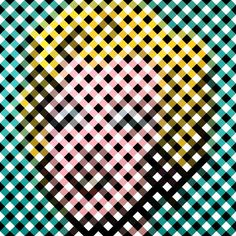 Andy Warhol's 'Marilyn Monroe' painting reduced & remixed down into plaid.  by Graphic Nothing's photostream on Flickr