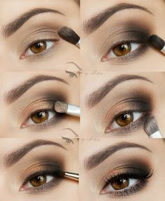 Gold and Brown Eyeshadow Steps