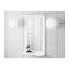 IKEA SILVERÅN mirror with shelf A good solution if you are short of space.
