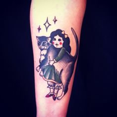 perfect cat tattoo by Jemma Jones