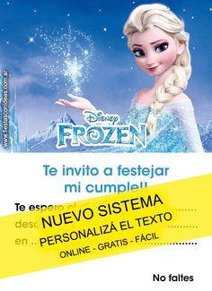 juegos y vaile Frozen Invitations, Online Gratis, Home Interior, Rapunzel, Elsa, Birthdays, Disney Princess, Party, Tiana