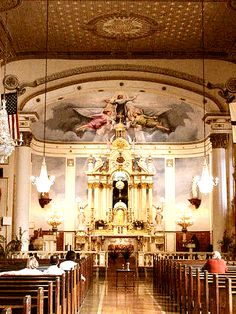Old Ursuline Convent Chapel - New Orleans Catholic Wedding, Church Wedding, Wedding Ceremony, Old Churches, Catholic Churches, New Orleans Louisiana, Louisiana History, New Orleans Mardi Gras, Church Interior