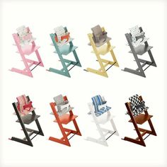 Our fan favorite Stokke Tripp Trapp chair is now available in more colors & accessories than ever! Live in the USA? visit this link and style a Tripp Trapp with our easy online configurator for a chance to win one of your very own Tripp Trapp's !