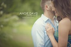Kassie & Justin's engagement session. I just love the blue & greens! So pretty! Photo by Arkansas photographer Angie Davis Photography.