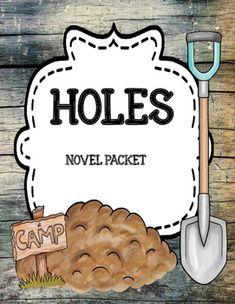 Holes by Louis Sachar Novel Unit Mega Bundle - Distance Learning Plot Activities, Character Activities, Vocabulary Activities, Louis Sachar, Summary Writing, Literary Elements, Context Clues, Author Studies, Writing Resources