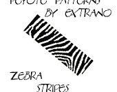 Peyote Bracelet Patterns by Extrano - ZEBRA STRIPES - 2 get 1 free - 2 colors ONLY