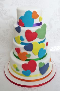 Rainbow Hearts Cake | por pamdoherty1