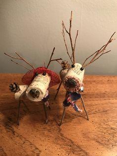 Patriotic Wine Cork Reindeer by WillowDezigns on Etsy