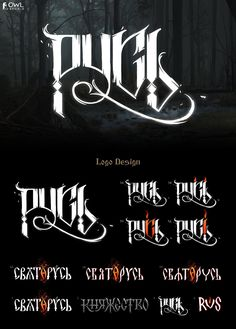 """""""Rus"""" is an in-house art-project. We made a grimdark Slavic setting with a lot of concept arts for a hardcore role-playing game. Typography Letters, Lettering, Game Design, Logo Design, Owl Logo, Home Art, Concept Art, Art Projects, Behance"""