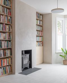 Planning a home renovation project? Get inspiration and find the best home renovation architects or interior designers (it's free! Plywood Bookcase, Bookcases, White Square Tiles, Interior Architecture, Interior Design, Dynamic Architecture, London Architecture, Scandi Home, Victorian Homes