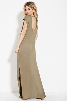 V-Cut Maxi Dress | Forever 21 - 2000169515