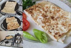 Gozleme ( phyllo pastry, cheese, parsley, red pepper flakes)