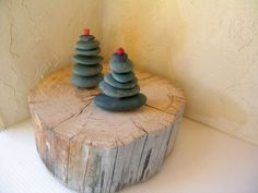Try This: Rock Christmas Tree - love this!